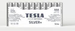 TESLA SILVER+ AAA 10ks, alkalická batéria
