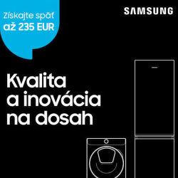 Cashback až do 235 € na domáce spotrebiče Samsung