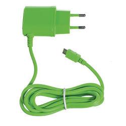 CELLY nabíjačka microUSB, 1A, zelená