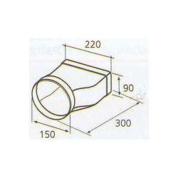 ELICA 1053 Q, plastove rozvody 150mm