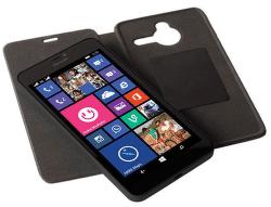 KRUSELL flip pre Nokia Lumia 640 XL, čierna
