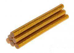 TOPEX Lepiace tyčinky, zlato, brokát, 6 ks, 8 mm x 100 mm