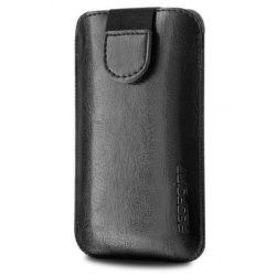 FIXED Puzdro Soft Slim so zatváraním, PU kože, veľkosť 5XL, čierne