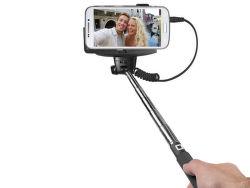 SBS selfie tyč s 3.5 mm konektorom 1 m, čierna