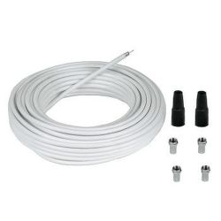 HAMA 56607 connection Kit + 4 F-Plugs & 2 Protection Tubes, 20 m