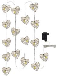 Emos 16 LED 3M IP20 WW vianočné srdcia