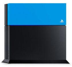 PS4 farebný kryt na konzolu (modrý)
