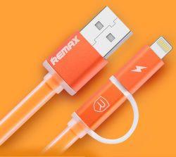 Remax AA-1147 Aurora 2v1 USB kábel (oranžový)