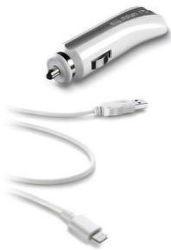 CellularLine autonabíjačka s USB, 1A (biela)
