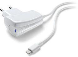 CellularLine cestovná nabíjačka 1A (biela)