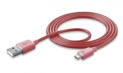 CellularLine Style&Color dátový kábel micro USB, ružová