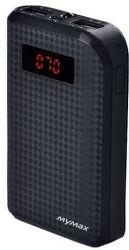 MyMax AA-1196 powerbanka 10 000 mAh, čierna