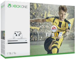 Microsoft Xbox One S 1TB + FIFA 17, 234-00046 (biela)