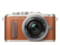 Olympus PEN E-PL8 + 14-42 EZ (hnedo-strieborný)