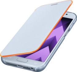 SAMSUNG Flipové puzdro pre Galaxy A3 2017 Neon (modrá)