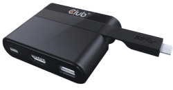 Club 3D SenseVision USB 3.1 Type C to HDMI™ 2.0 + USB 2.0 + USB Type C Charging