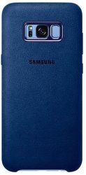 Samsung Alcantara Cover EF-XG955 Galaxy S8+ modrý