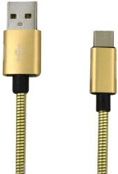 Mobilnet dátový kábel USB-C 1 m 2 A zlatý