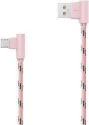 MOBILNET Micro USB kábel 2m, ružový
