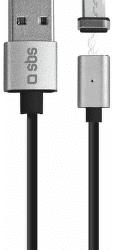 SBS dátový kábel Micro USB 1 m čierny