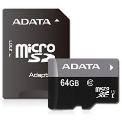 ADATA Premier microSDXC 64GB UHS-1 Class 10 + adaptér