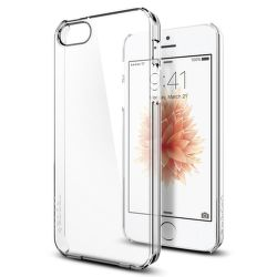 SPIGEN iPhone 5/5S/SE Case Thin Fit, transparentné