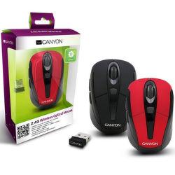 CANYON CNR-MSOW06R, Wireless optická myš USB, červená, 1600dpi