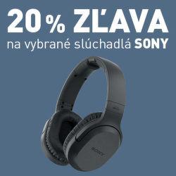20% zľava na slúchadlá Sony