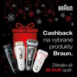 Braun cashback až do 60 € na vybrané produkty