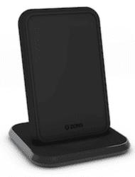 Zens Aluminium Fast Charge bezdrôtová nabíjačka Qi 10 W čierna