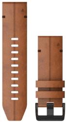 Garmin QuickFit 26mm kožený remienok pre Fénix 6X, hnedá
