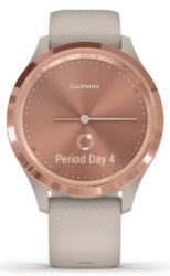 Garmin vivomove 3S ružovo zlaté so sivým remienkom