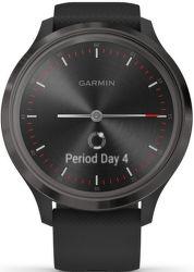 Garmin Vivomove 3 čierne s čiernym silikónovým remienkom