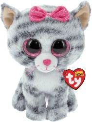 KIKI šedá mačka 15 cm