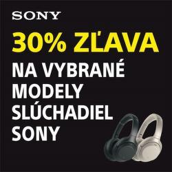 30% zľava na slúchadlá Sony