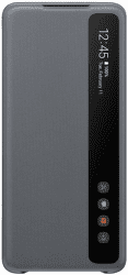 Samsung Clear View Cover pre Samsung Galaxy S20+, sivá