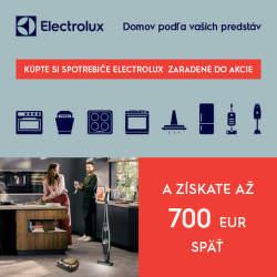Cashback na vybrané spotrebiče Electrolux