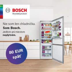 Cashback 80 € na chladničky Bosch