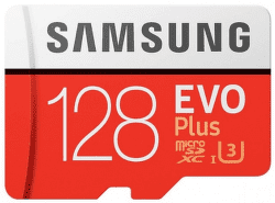 Samsung Micro SDXC 128 GB EVO Plus + SD adaptér
