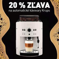 20% zľava na automatické kávovary Krups