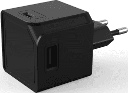USBcube Original A+C 3A, čierna