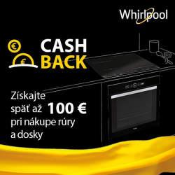 Cashback až do 100 € na varné dosky a rúry Whirlpool