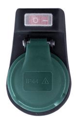 Solight P98 vonkajšia zásuvka s vypínačom