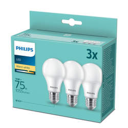PHILIPS LED 10W E27 WW 3ks