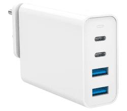 HyperJuice 2x USB-C/2x USB 3.0 100 W biela + cestovné redukcie EU/US/UK