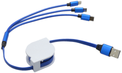 Mobilnet dátový kábel 3v1 modrý
