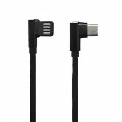 Mobilnet dátový kábel USB-C 2,7 A 1,5 m čierna