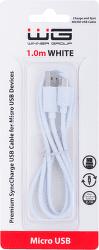 Winner dátový kábel Micro USB 1 m biely