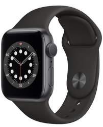 Apple Watch Series 6 40 mm vesmírné sivý hliník s čiernym športovým remienkom