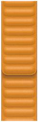 Apple Watch 40 mm kožený remienok nechtíkovo oranžový M/L